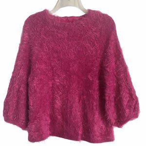 NIc + Zoe Womens Pink Cozy Eyelash Sweater Size M
